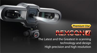 REXCAN 4-BANNER اسکنر سه بعدی حرفه ای REXCAN4