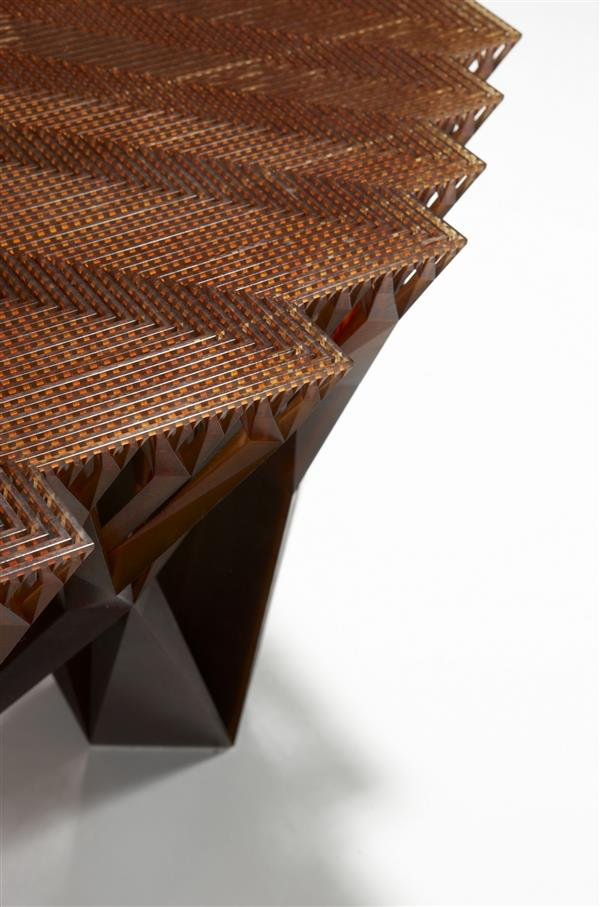 میز پیشدستی که توسط پرینتر سه بعدی ، پرینت شده نمایشگاه 80 وسیله غیر عادی پرینت شده - بخش اول